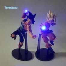 Dragon Ball Z Action Figure Son Goku Bardana Kamehameha Ha Condotto La Luce FAI DA TE Display Giocattolo Esferas Del Drago Goku Giocattolo DBZ   luce DIY06