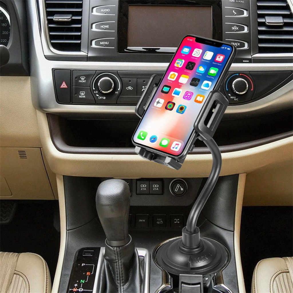 Montagem Do Carro Universal Gooseneck Ajustável Suporte de Copo porta cellulare auto telefoon houder Cradle para iPhone Telefone Celular