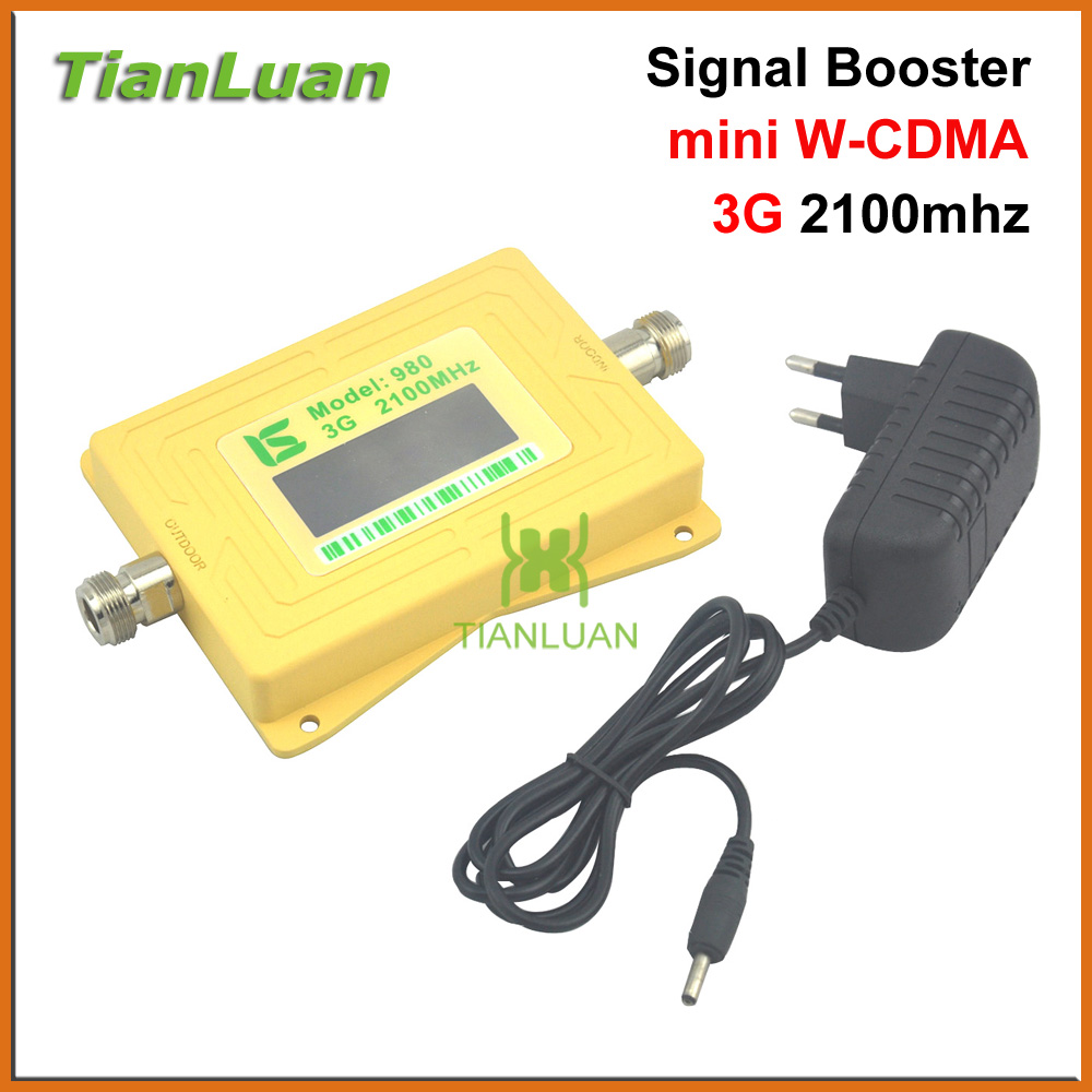 Smart LCD Mobile Phone W-CDMA 2100MHz Signal Booster UMTS Signal Repeater 3G Booster Cell Phone Amplifier With 5v Power Supply