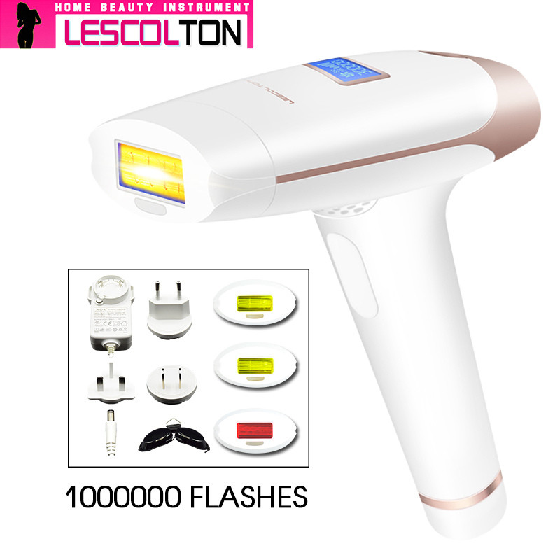 New Lescolton 4in1 IPL Epilator Permanent Laser Hair Removal LCD Display 1000000 Pulses depilador a laser