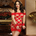 Hot Selling Women Sexy Lingerie Summer Lace Pyjamas Perspective Red Temptation Sexy Nightgown Large Size Female Sexy Nightdress