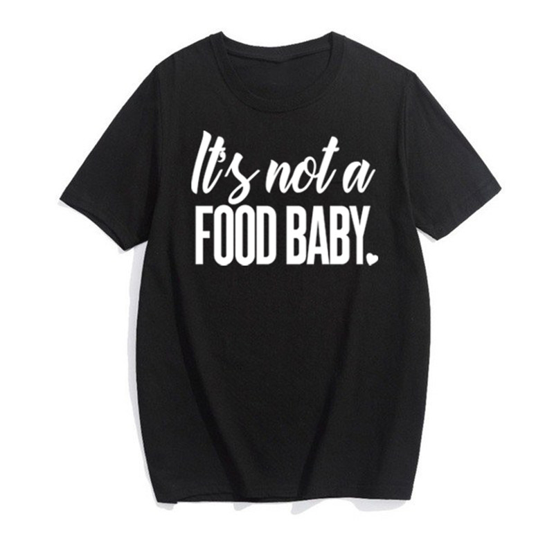 LUSLOS  Its not a food baby Pregnancy Announcement Photo Prop T Shirt New Mom Tee Tops
