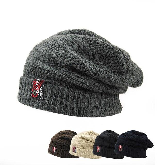 Новое Прибытие Взрослых Корейской мужской вязаная шапка цвет густой шерсти куртка шапка Вязать Шляпу Взрослых теплая зима досуг шляпы HMZ8197