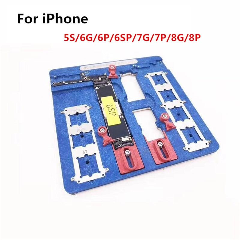 9 dans 1 Téléphone De Réparation Carte Mère Fixation Pour iPhone 5S 6 6 S 7 8 Plus CPU Puce Outils De Réparation PCB Titulaire réparation luminaire