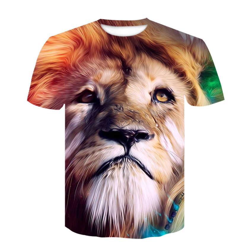 Девин ДУ Новая модная мужская/wo Мужская 3d футболка Веселая Печать красочные волосы король льва летняя крутая футболка уличная одежда футболки