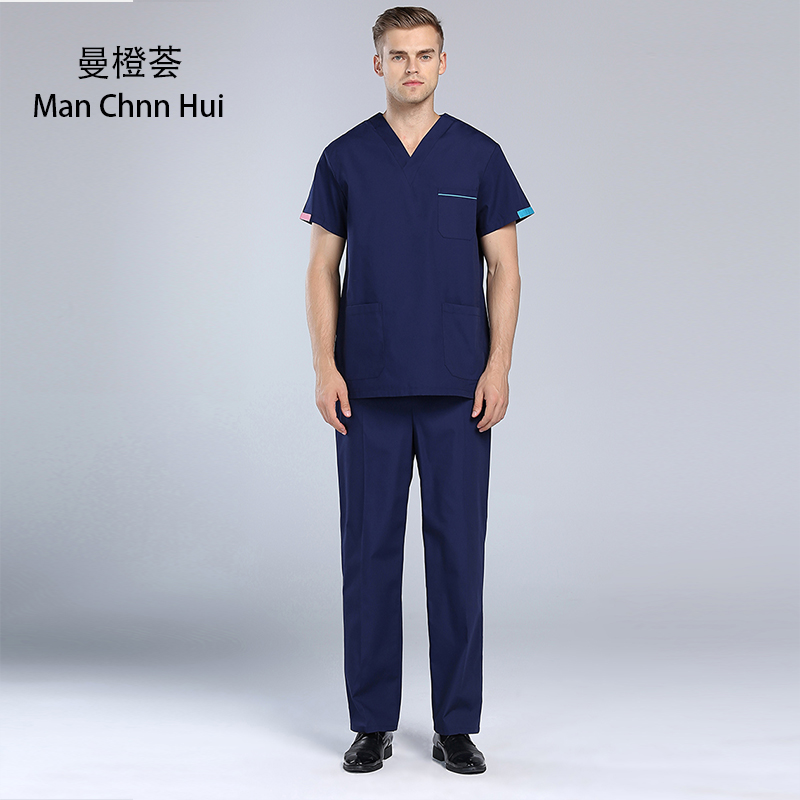 Medical uniforms hospital dental surgery scrub uniform suit multicolor laboratory pet workwear