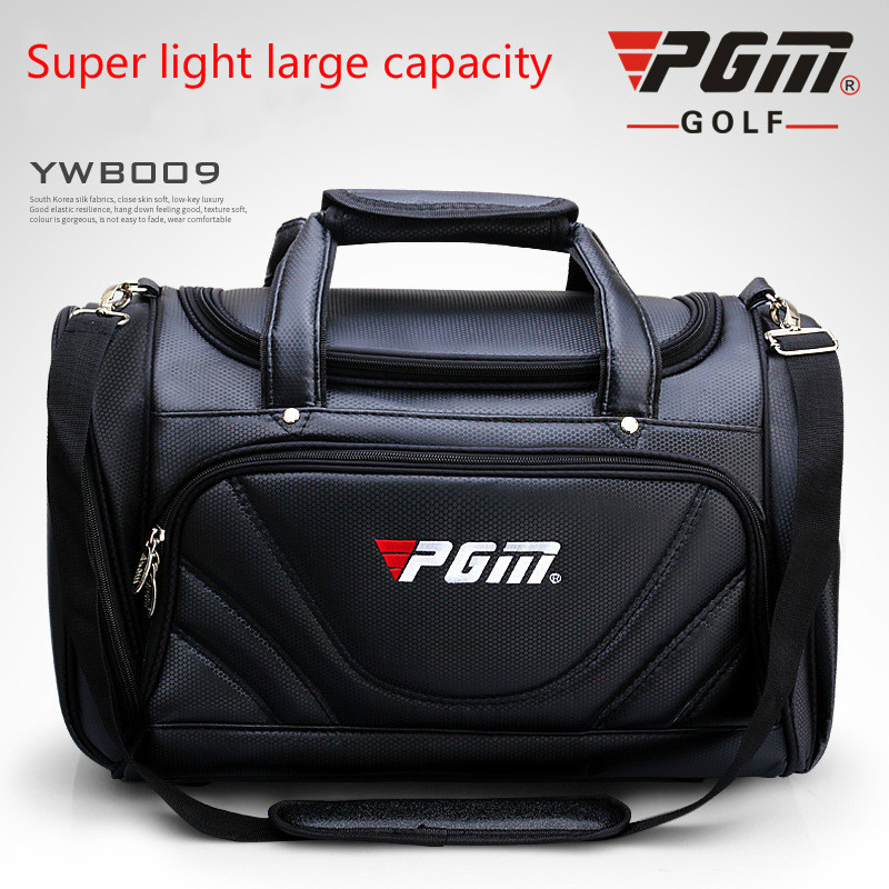 2018 PGM Golf Clothes Bag Men's PU Ball Package Multi functional Clothes Bag Super Capacity Ultralight Wear resisting Golf Bag-in Golf Bags from Sports & Entertainment    1
