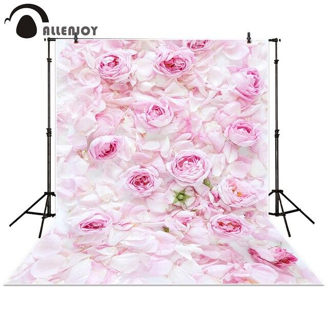 allenjoy photographie toile de fond rose rose fleur mur de mariage amour b b douche frais. Black Bedroom Furniture Sets. Home Design Ideas