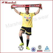Custom yellow soccer clothing,sublimation custom team sports jersey, team pennant, differnt number