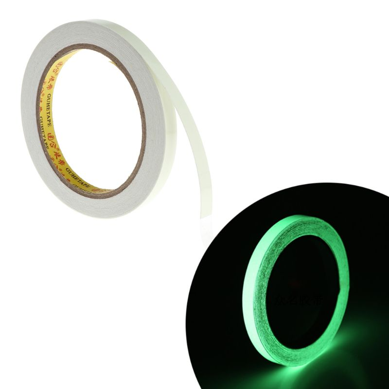 10M 10mm Luminous Tape Self-adhesive Warning Tape Night Vision Glow In Dark Safety Security Home Decoration Tapes Qiang