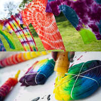 12 Color Fabric Tye Permanent Dye DIY for Fabric Textile Craft Paint Color One Step Tie Dyes Kit Arts Design Set For Clothing