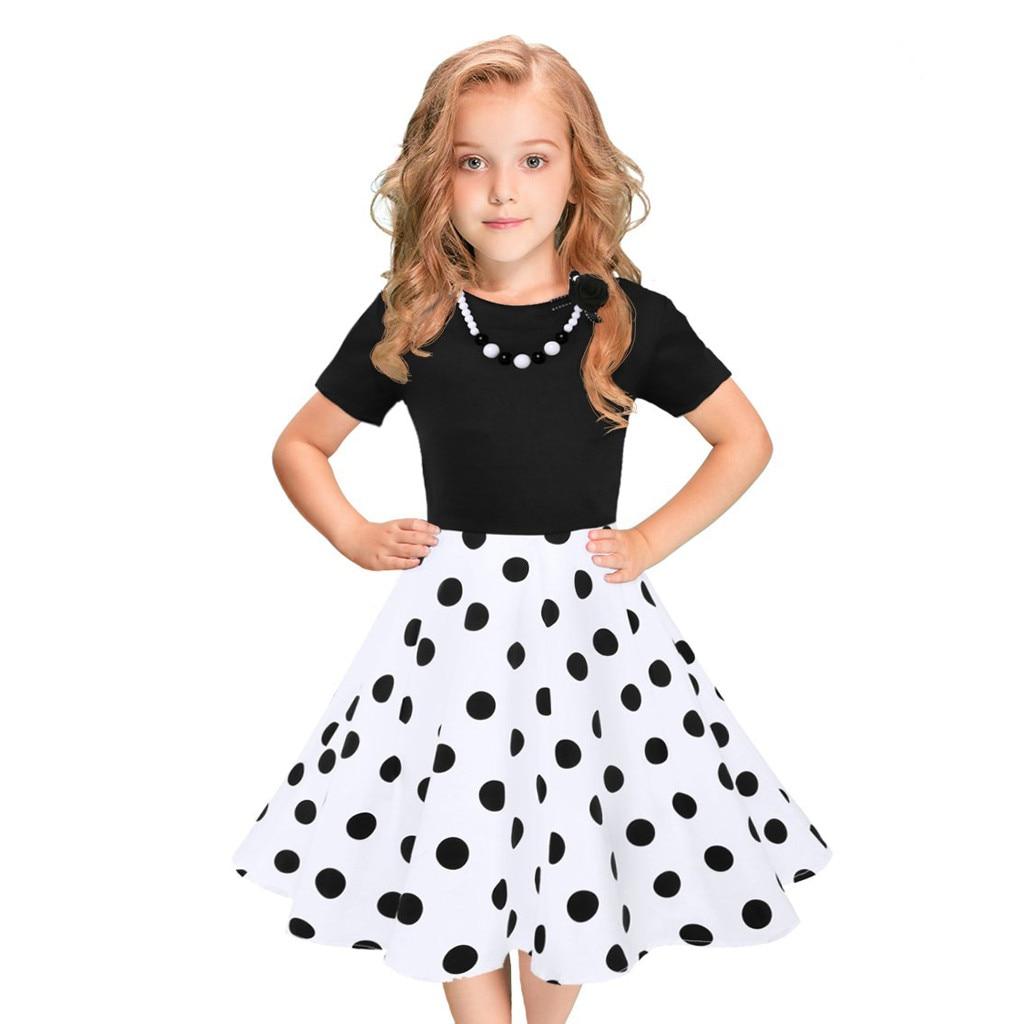SZYADEOU/Детские платья для маленьких девочек, модное платье в горошек для детей, летняя одежда для вечеринок, одежда для дня рождения L4