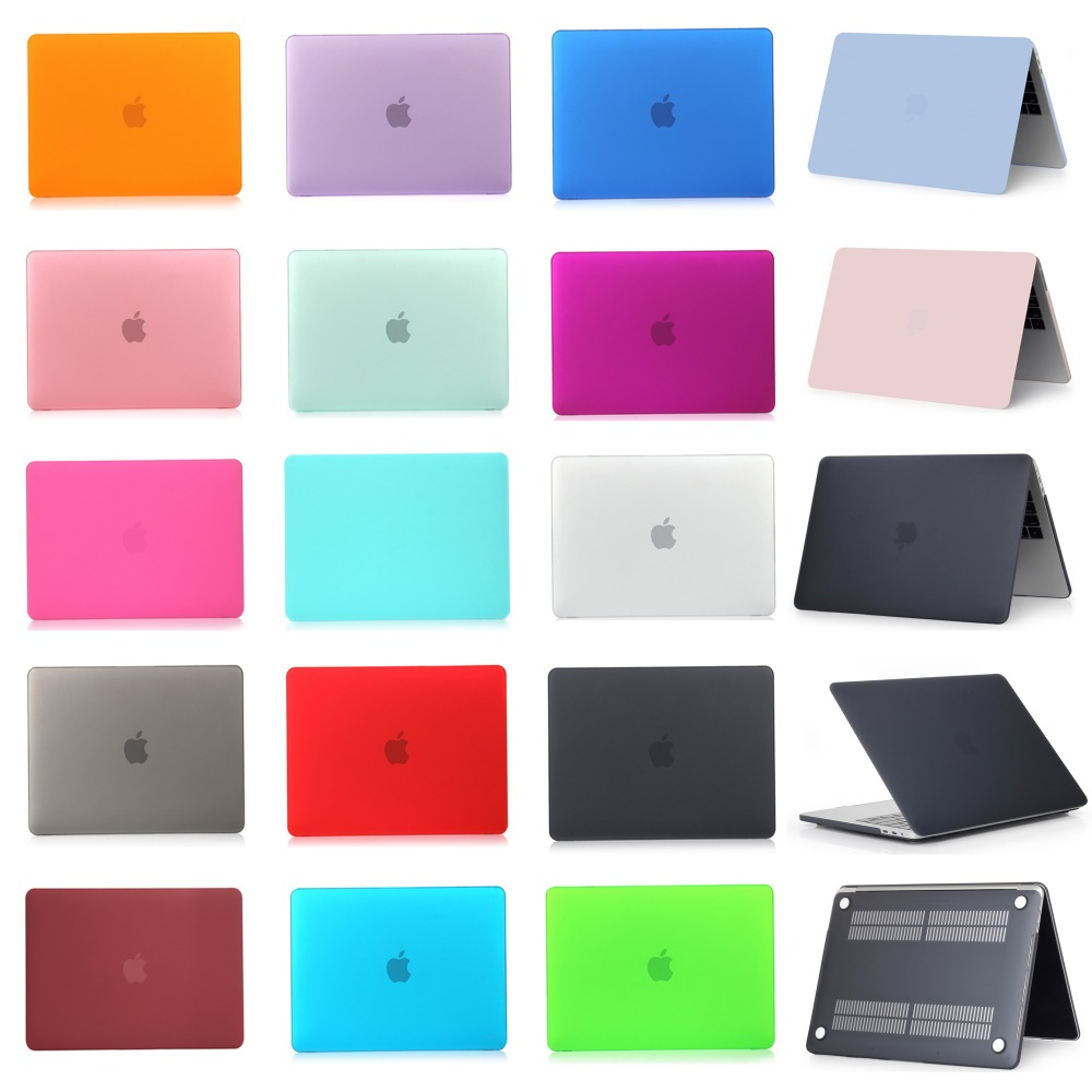 Apple Macbook Air Pro Retina- ի համար 11 12 13 15 դյույմ Touch Bar Frosted Surface Matte Hard Cover Case Case- ով