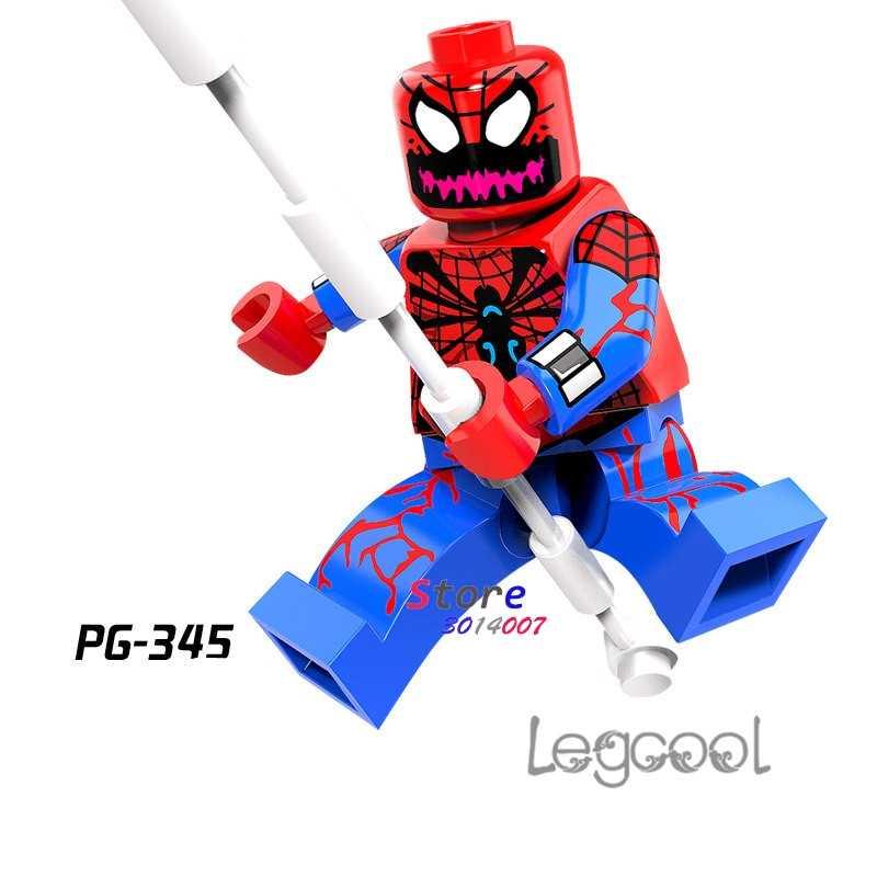1 шт. модель строительные блоки Экшн фигурки Звездные войны Супергерои Карнаж паук кукла мужчины Рождество diy игрушки для детей подарок