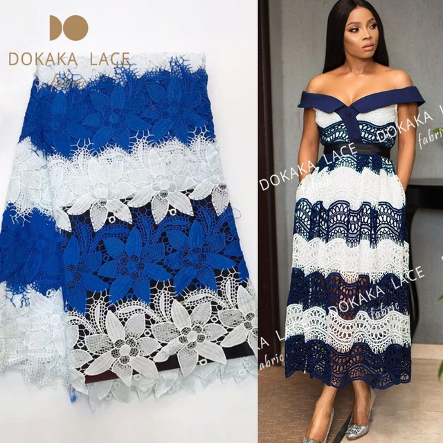 ebc9c8440d15 Two Color Design Printing Milk Lace Fabric 2018 High Quality Soft Style  African Nigerian Party Dresses