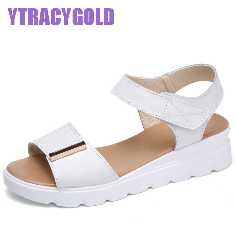 2017 Platform Sandals Women Summer Shoes Soft Leather Casual Sandals Open Toe Gladiator wedges Trifle Mujer Women Beach Sandals 2017 summer shoes woman platform sandals women soft leather casual open toe gladiator wedges women shoes zapatos mujer
