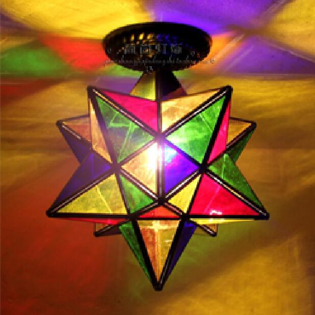 light star personality creative ceiling lamp living room bedroom restaurant lights bar corridor balcony ceiling lights DF58 light colorful ceiling lights restaurant creative children s room bedroom balcony corridor lamp shell ceiling lamp za