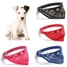Adjustable Pet Cat Dog Collar Lovely Printed Fashion Supplies Scarf Dogs Personality Bandana Puppy Neck Tie