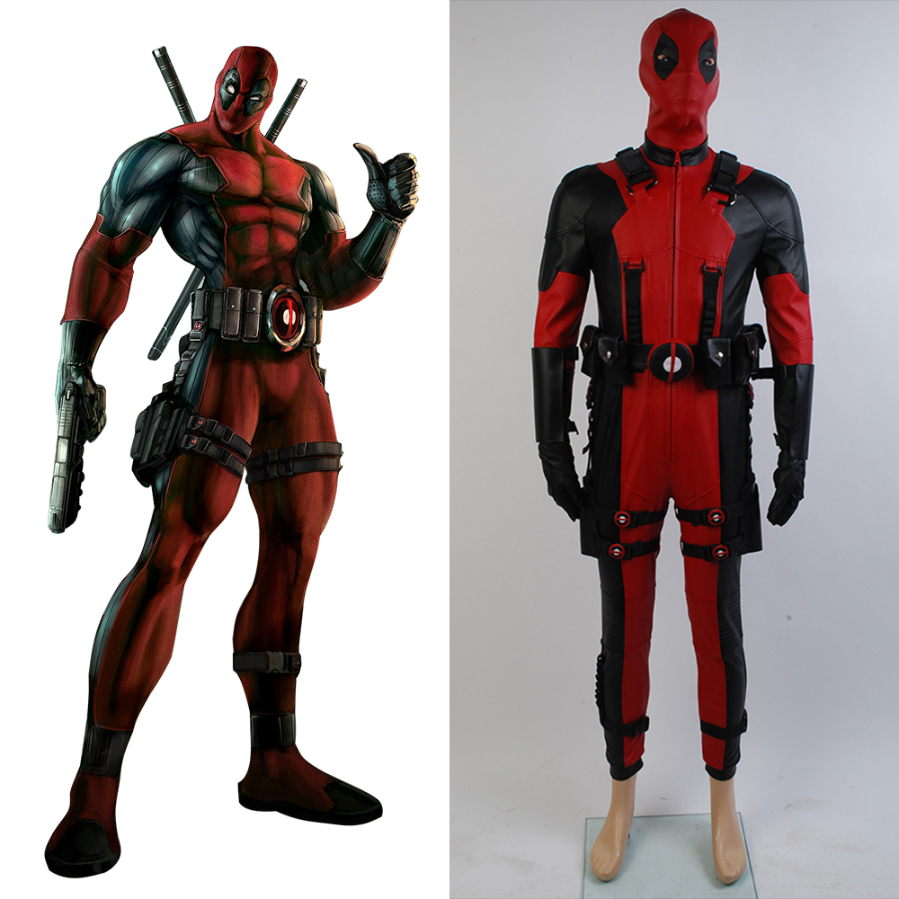Marvel Comics Deadpool Cosplay Costume In Video Game For Halloween Party Men Male Suit