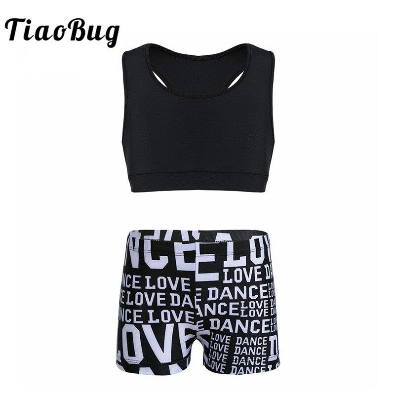 Alvivi Kids Girls Shiny Metallic Camisole Tank Crop Top Jazz Dance Sports Vest Tee Shirt Performance Costume