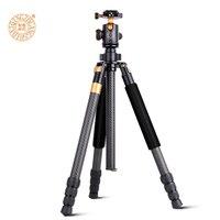 Nuovo QZSD Q968C 63-inch Professionale Portatile In Fibra di Carbonio Fotocamera Treppiedi con Testa A Sfera Per DSLR SLR Camera Basamento di Carico 10 KG