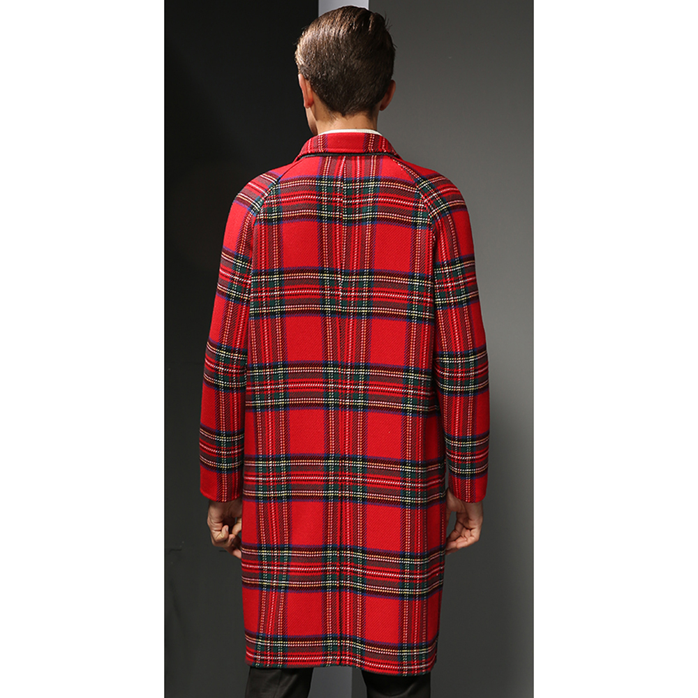 Wolle Konfrontiert Outwear 100 Sickern Männlichen Gentleman Jacke Echt Mantel Herbst Graben Männer Echtem Doppel Lange Casual Smart Winter x00nTE