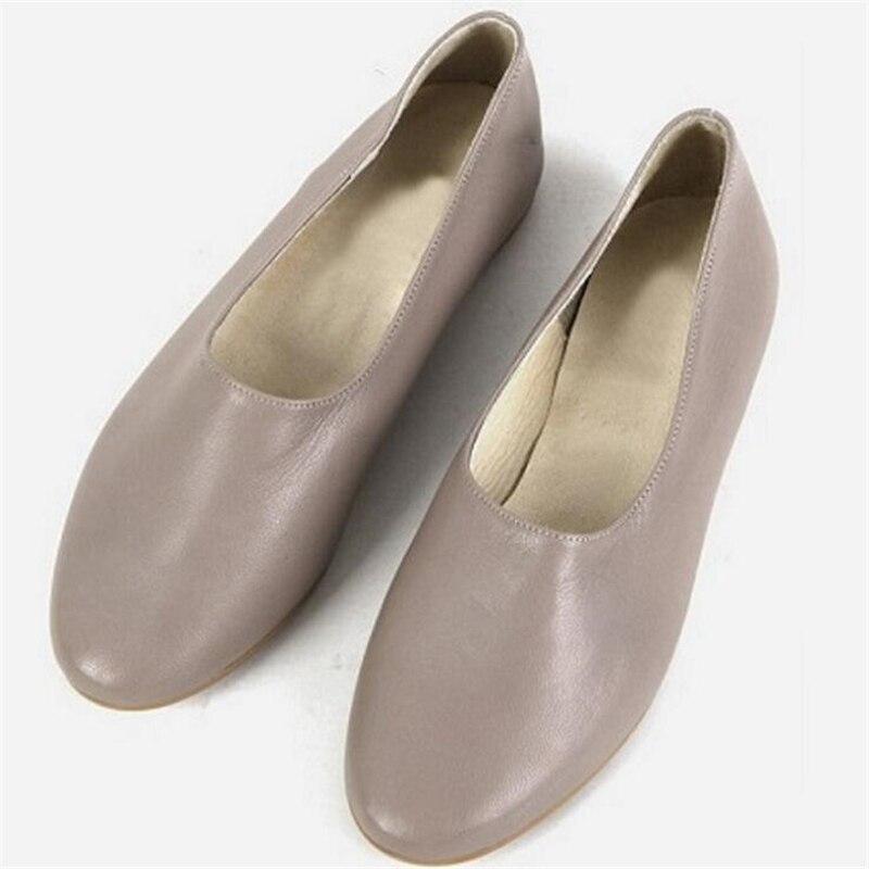 ФОТО Luxury Brand Women 100% Sheepskin Flats All Season Breathable Pigskin Inside Loafers Ladies Shallow Flats Handmade Women Shoes