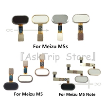 For Meizu M5 M5s Note Original Home Key Fingerprint Return Button Touch ID Sensor Ribbon Flex Cable