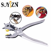 Portable Punch Plier 9 Heavy Duty Leather Hole Punch Hand Pliers Belt Holes Punched Punching Plier