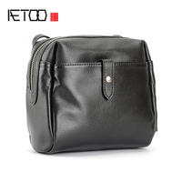 AETOO Head cowhide female Xiao Fang bag simple casual bean curd bag crossbody bag side back shoulder bag
