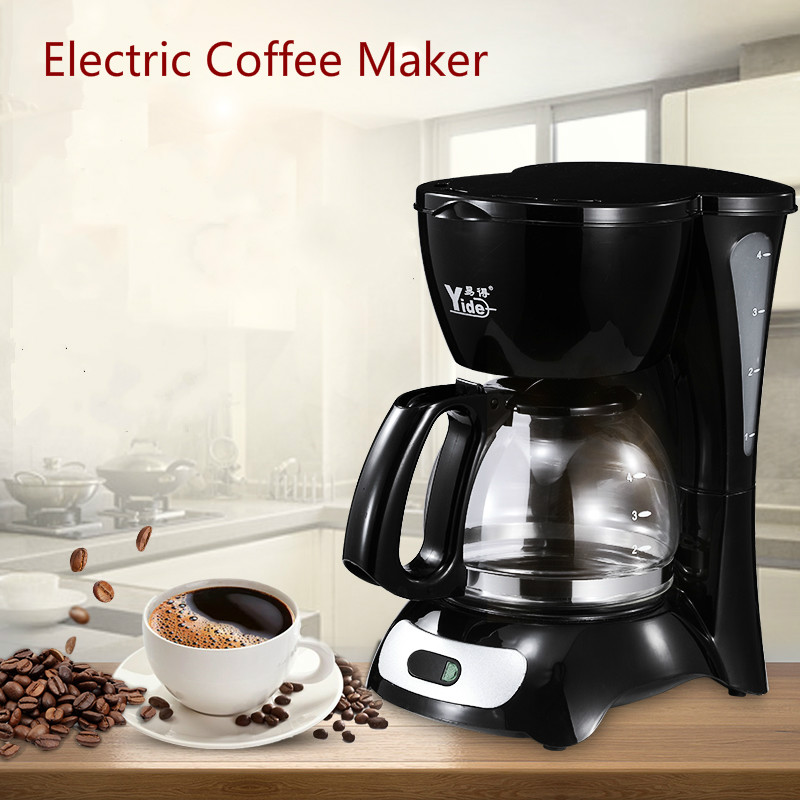 Electric Coffee Maker Household Semi-automatic Drip Coffee Maker 600ml Milk Tea Coffee Pot Coffee Maker Machine electric 120w coffee machine espresso americano coffee maker for household with 1 pcs coffee pot tea machine