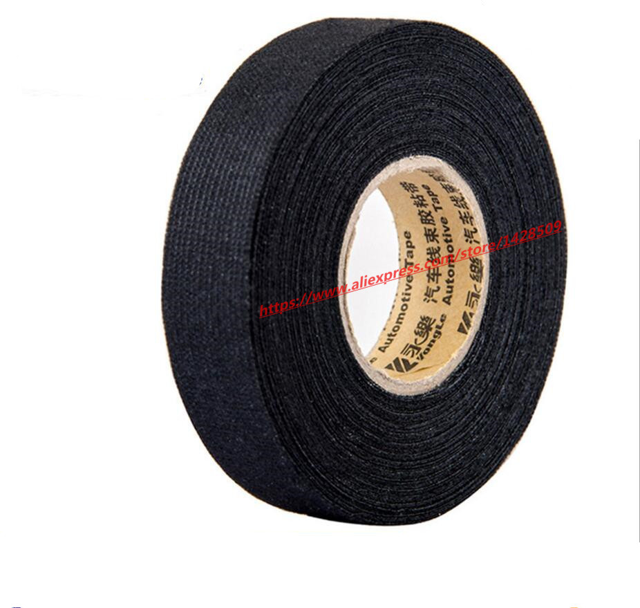 12mmx15m Universal Flannel fabric Cloth Tape automotive wiring harness Black  Flannel Car Anti Rattle Self Adhesive Felt Tape-in Tape from Home  Improvement ...