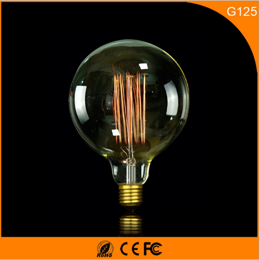 50Pcs 40W Vintage Design Edison Filament B22 E27 LED Bulb,G125 Energy Saving Decoration Lamp Replace  Incandescent Light AC220V 5pcs e27 led bulb 2w 4w 6w vintage cold white warm white edison lamp g45 led filament decorative bulb ac 220v 240v