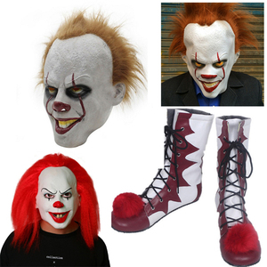 Image 1 - 2018 Hot Sale Stephen Kings It Pennywise Cosplay Shoes and Mask Horrible Clown Boots Custom Halloween Christmas Accessories