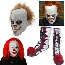 2018 offre spéciale Stephen Kings It Pennywise Cosplay chaussures et masque Horrible Clown bottes personnalisé Halloween accessoires de noël