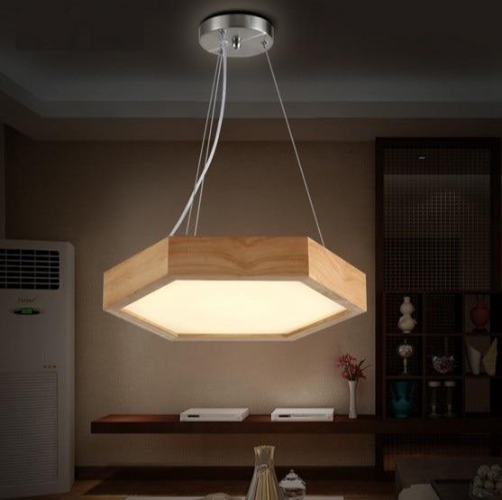 buy simple fashion wood art droplight