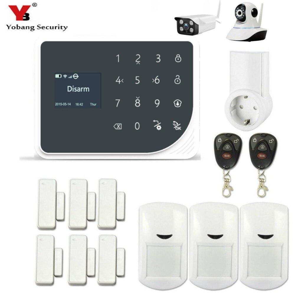 YoBang безопасности WI FI GSM GPRS SMS Беспроводной дома Security Alert Системы Android IOS приложение удаленного Управление Smart Plug видео IP камера