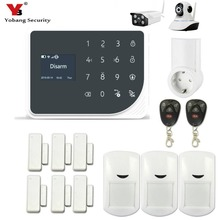YoBang Security WIFI GSM GPRS SMS Wireless Home Security Alert System Android IOS APP Remote Control Smart Plug Video IP Camera