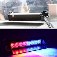 8 LED 레드/블루 자동차 경찰 스트로브 플래시 라이트