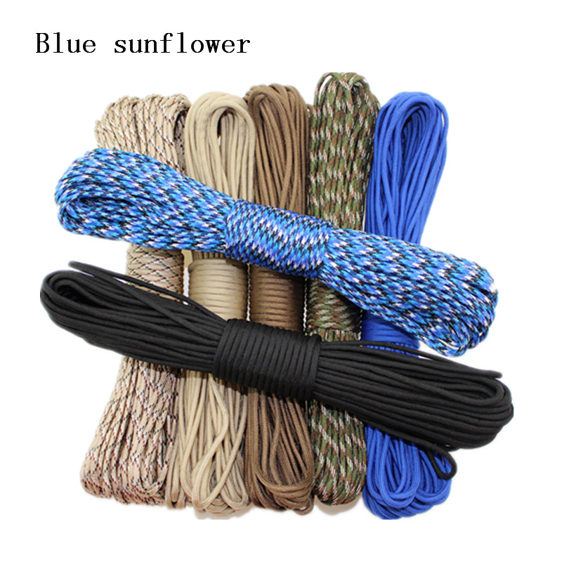 216 Colors Paracord 550 Paracord Parachute Cord Lanyard Rope Mil Spec Type III 7Strand 50FT 100FT For Hiking Camping