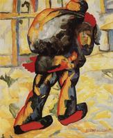 High quality Oil painting Canvas Reproductions The man with the bag By Kazimir Malevich hand painted