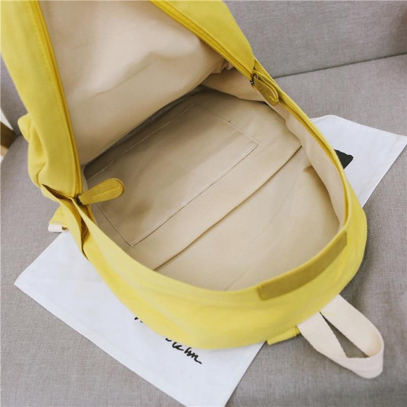 HTB14CqnXLfsK1RjSszbq6AqBXXaW 2019 Women Canvas Backpacks Ladies Shoulder School Bag Backpack Rucksack for Girls Travel Fashion Bag Bolsas Mochilas Sac A Dos