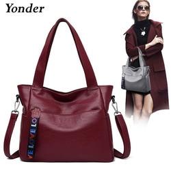 Yonder Сумки из натуральной кожи для женщин 2019 Роскошные Сумки женские Сумки Дизайнерская кожаная сумочка женские сумки через плечо