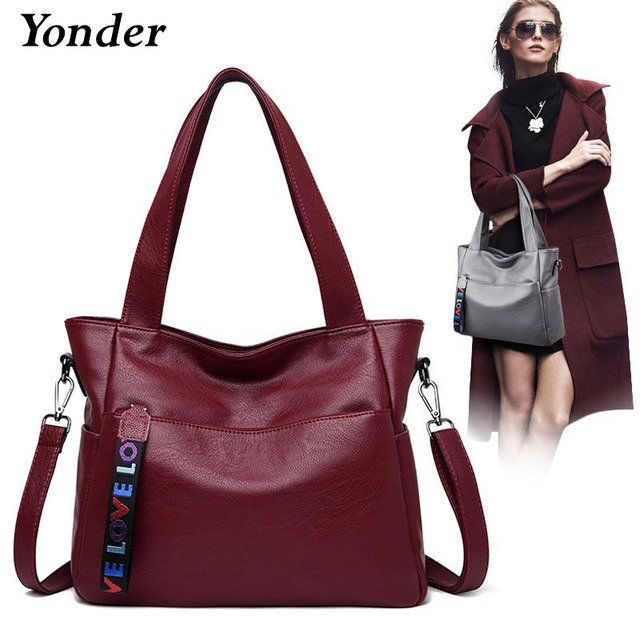 Yonder genuine leather shoulder bag