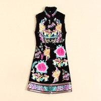 Китайский стиль original Royal пальто с вышивкой женские осенне зимние винтажные женские черный бархат жилетка Мужские парки женские S XXXL