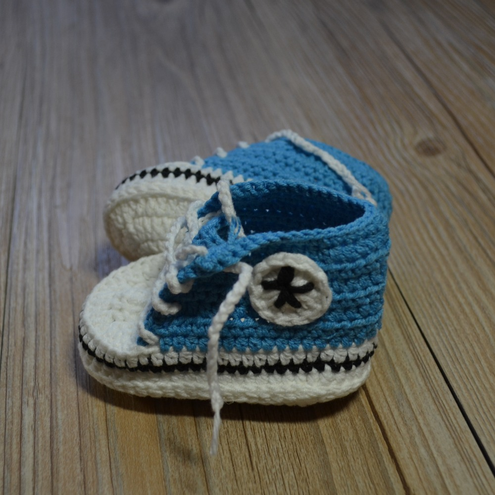 QYFLYXUE-Crochet dziecięce buty, handmade Baby Crochet Booties, buty - Buty dziecięce - Zdjęcie 6