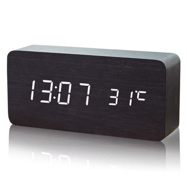 9db373b4e25 LEVOU despertador Digital-Relógio Reloj Relogio Despertador Madeira Madera  Saati Saat Relógios Relógio de Mesa