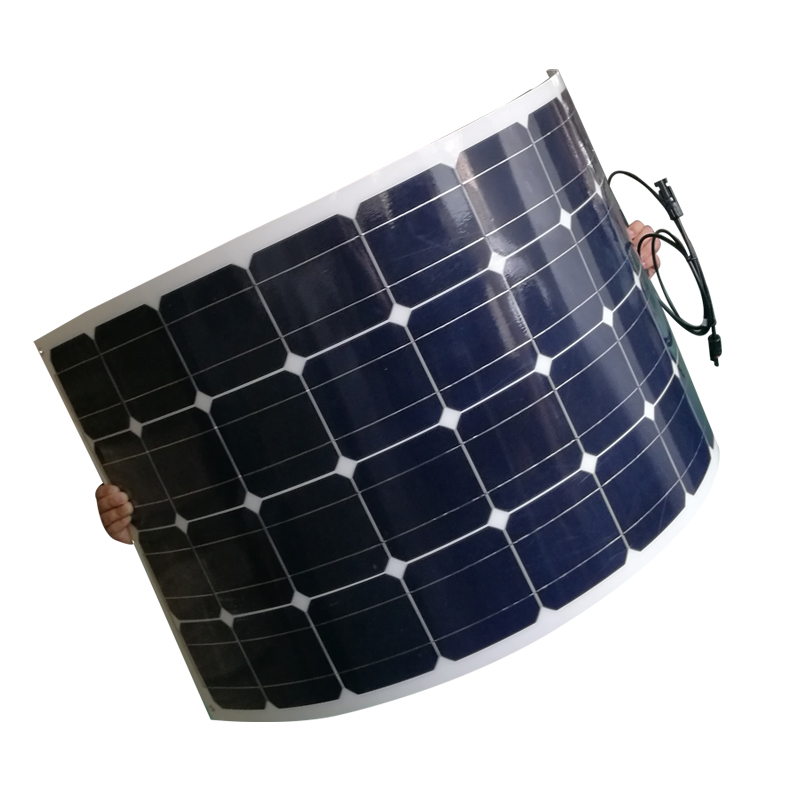 Portable Flexible Solar Panel 12v 100w Monocrystalline Solar Charger Battery Caravan Camping Car Boat Marine Yacht Boat LED in Solar Cells from Consumer Electronics