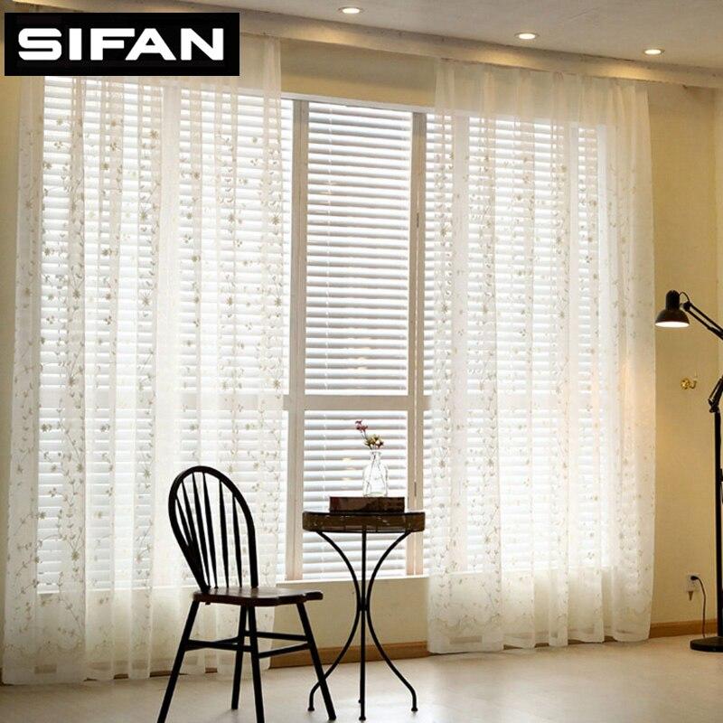 חדש לבן / כחול מותיר רקמה טול וילונות עבור חדר המגורים וילון וילונות עבור חדר שינה וילונות חלון חלון וילונות