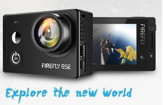 Hawkeye Firefly 8SE Action Camera With Touchscreen 4K 30fps 90/170 Degree Super-View Bluetooth FPV Sport Action Cam image